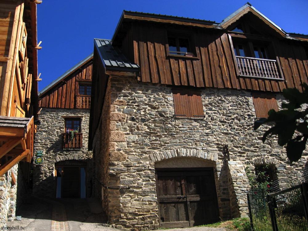 Huez village